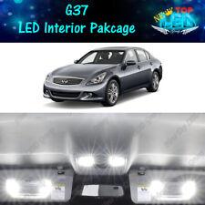 11x White Interior LED Lights Package Kit for 2008 - 2011 2012 2013 Infiniti G37
