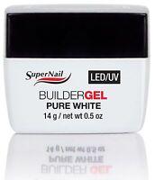 SuperNail LED/UV Builder Gel Pure White - .5oz (51606)