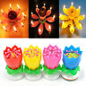 Musical Candle  Lotus Flower Rotating Happy Birthday Candle  Romantic Party Gift