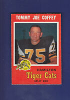 Tommy Joe Coffey 1971 O-PEE-CHEE CFL Football #62 (EXMT+) Hamilton Tiger-Cats