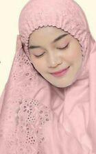 Telekung Sulam Cotton Premium
