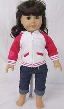 American Girl Doll Brown Eyes Dark Brown Hair Light Skin Bangs Just Like You 16