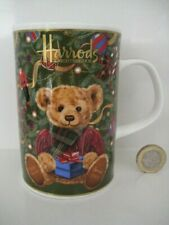 2005 HARRODS 20th ANNIVERSARY CHRISTMAS BEAR DESIGN TEA COFFEE ENGLISH CHINA MUG