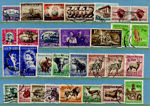 BW47 South Africa Colonies 30v used Wild Animals Elephant Hippopotamus Leopard Z