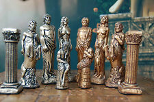 Large Greek Mythology Chess Set, Customisable colours (Pieces Only)