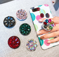 New Crystal Universal Mount Stand Mobile Phone Finger Holder Expanding Ring