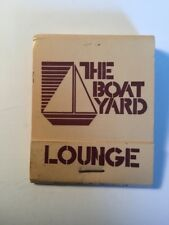 Vintage Matchbook Cover The Boat Yard Lounge Somers Point New Jersey Historical