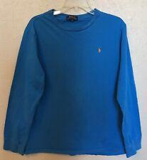 Polo Ralph Lauren Boys Turquoise & Orange Long Sleeve Pullover Shirt Sz XL 18-20