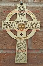 Wall Hanger plaque, Claddagh Cross- Perfect for a Gift for Anybody or Occasion