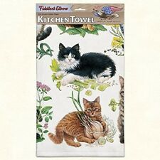 "Kitchen Towel--Mixed Kittens--Printed in the USA--22"" by 32""--100% Cotton"