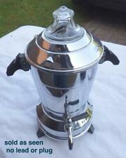 More details for art deco chrome vintage samovar coffe percolator no lead sold as seen