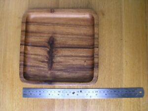Island Art Retro Vintage Decorative Square Shape Handmade Wooden Bowl Teak
