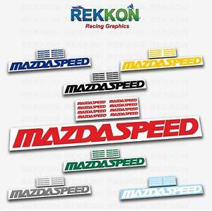 MAZDA SPEED 3 5 6 CX7 RX8 RX7 Mazdaspeed Racing Emblem Decal Logo Sticker + GIFT