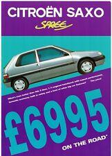 Citroen Saxo Spree 1.1i 3-dr Limited Edition 1998 UK Market Leaflet Brochure