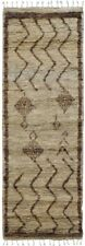 Tribal Thick-Plush Moroccan Shaggy Oriental Runner Rug Hand-Knotted 7' 10 x 2' 6