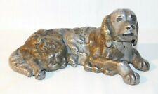 Antique English Irish Setter Puppy Dog Cast Iron Paperweight Doorstop 5 1/4 Inch