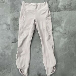 Fabletics High Rise Pure Luxe Ruched 7/8 Baby Pink Legging Pants Size Small S