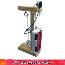 Handmade Earthquake Alarm Science Experiment Kids DIY Assembly Wooden Toy Gifts