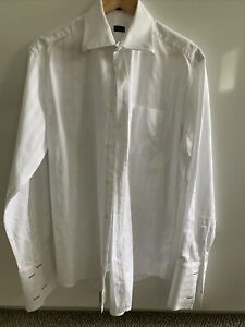 PAUL SMITH White Cotton Shirt 16.5/42 French Cuff New Without Tags