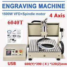 USB 4 ASSI 6040 CNC Router Engraver Incisore 1.5KW VFD Fresatrice Mill Macchina