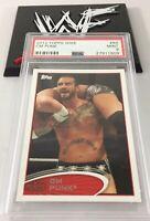 Cm Punk 2012 Topps Wwe Wrestling Card #89 Psa 9 Low Pop