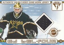 2001-02 Pacific Titanium Hockey Double JERSEY #65 Ed Belfour/Pierre Turgeon