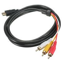 Black 5 Fuß 1,5 M HDMI-Stecker Auf 3 Cinch-Video-Audio-AV-Kabel-Adapter FÜR Z9E1