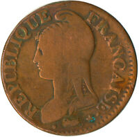 COIN / FRANCE / 5 CENTIMES 1798 / FIRST REPUBLIC AFTER FRENCH REVOLUTION #WT4920