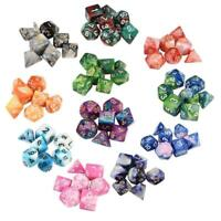 7pcs/set Multi Sided Dice Set Dungeons Role Play Party Board Game Dice Toys New