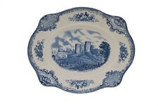 "Old Britain Castles Blue Johnson Brothers 11.25"" Oval Platter"