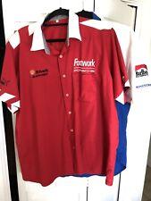 vtg Footwork Arrows Porsche F1 Team Crew Shirt 1990 XL Puma Alboreto Caffi