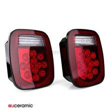 2pcs 12V Trailer Tail Lights Turn Signal Reverse Rear Lamp Brake Light Car Truck
