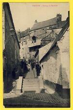 cpa Cliché Rare VERVINS (Aisne) Passage du MARTINET La Poterne Rue JACOB Animées