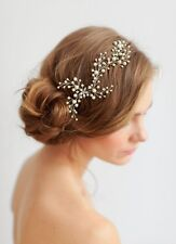 Bridal Pearls Hair Vine Headband  Comb Wedding Rhinestone Pin Headpieces Boh