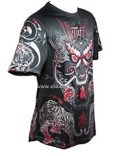 TUFF Muay Thai Shirt King of Dragon in Black - size M. Fighters Shirt BJJ MMA