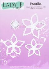 Lady E Design Poinsettia Cutting Die Set, Flower Making, Foamiran Flowers