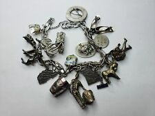 Vintage Sterling Silver Travel Charms 16Pcs