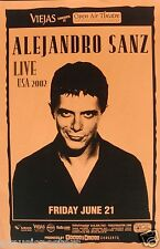 "ALEJANDRO SANZ ""LIVE USA 2002"" SAN DIEGO CONCERT TOUR POSTER + HANDBILL"