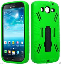 eGreen/Black Dual Hybrid Kickstand Samsung Galaxy Mega 5.8 GT-I9152/I9150 Case