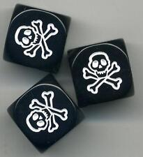 Skull Dice Knobs 3 Pack - for Epiphone Hollow Body Electric Guitar BLACK WildKat