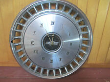 "VINTAGE Chevy HUB CAP Clock Bowtie Emblem Logo Approx. 15""  American Automobilia"