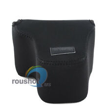 Black Neoprene Soft Camera Protect Case Bag Cover For Sony A7 A7R 28-70mm Lens