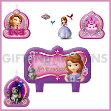 SOFIA THE FIRST CANDLE BIRTHDAY PARTY SUPPLIES 4 PC CANDLES CAKE TOPPER DISNEY