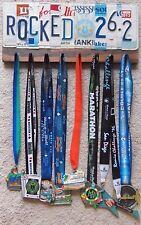 Hand Crafted Rock'N Roll Marathon Rocked  26.2 License Plate Letter Medal Hanger