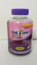 New Sealed One A Day Prenatal Gummies + Folic Acid & DHA 120 Ct Exp 8/20+
