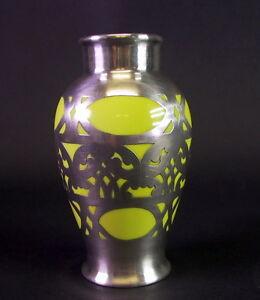 edle Rosenthal Silver Overlay Vase 1930er/50er Jahre - Rosenmarke