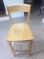 pair of John Lewis beech wood bar stools
