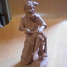 """Pottery Figura, pescatore, ITALIANO, placenti, alta 5 1/2"""""""