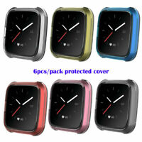 6PC/Pack TPU Shell Case Screen Protector Frame Cover for Fitbit Versa Lite Watch