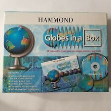 Hammond Globes in a Box Self Assembly Spinning Globe Maps Geodesic Templates Cd